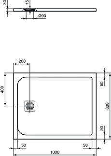 IS_UltraFlatS_K8219_PrListDrw_NN_shower-tray100x80
